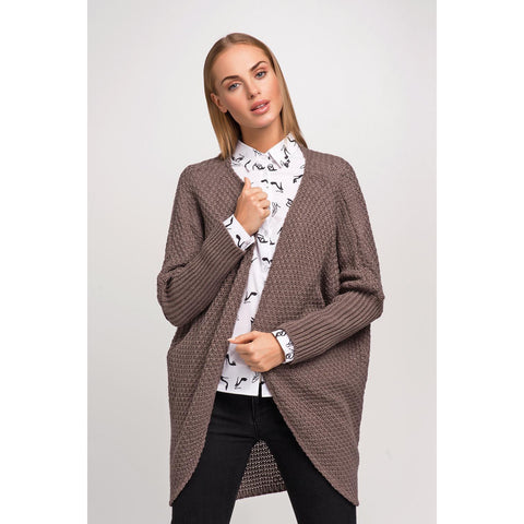 Cappuccino Stylish Sleeves Loose Cardigan LAVELIQ