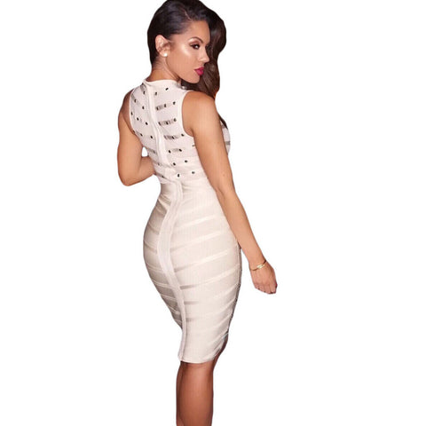 Apricot Knee Length Bandage Dress LAVELIQ SALE