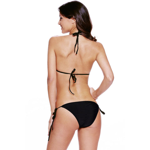 Black Cutout Nude Illusion Bikini Swimsuit LAVELIQ
