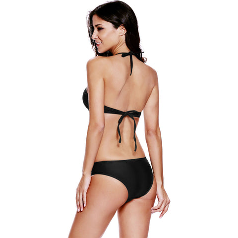 Black Cut Out Vintage Two Piece Tan Kini LAVELIQ