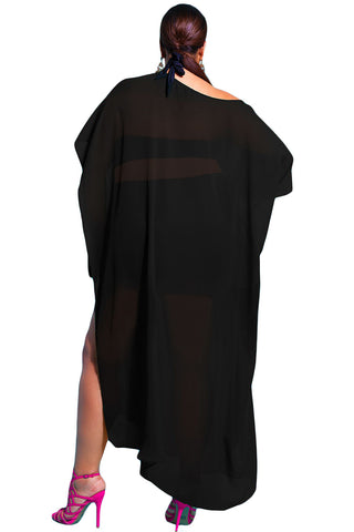 Draped Plus Size Cover-Up LAVELIQ