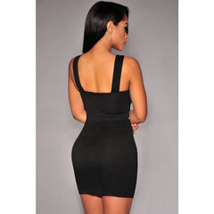 Black Gold Cut-Out Club Mini Dress Sale LAVELIQ - LAVELIQ - 2