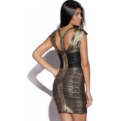 Black Above Knee Mini Celeb Bandage Dress LAVELIQ SALE - LAVELIQ - 2