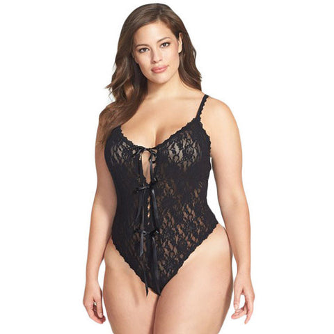 Black Lace Open Lingerie LAVELIQ