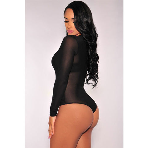 Black Sleeve Bodysuit LAVELIQ