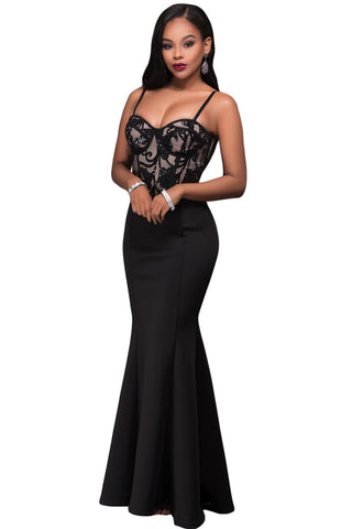 Black Mermaid Luxe Maxi Skirt LAVELIQ