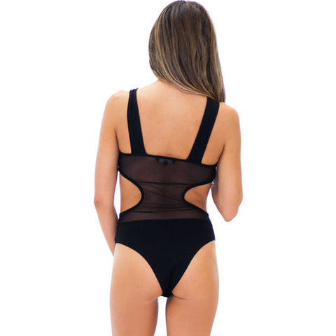 Black Cut-Out Bodysuit LAVELIQ