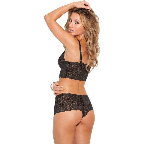Black Stretch Lace Lingerie Set LAVELIQ
