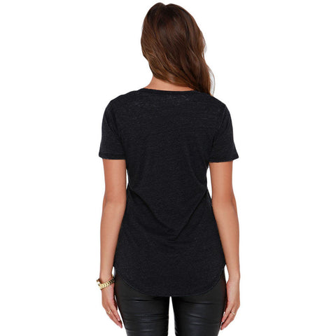 Black Basic Pocket T-Shirt LAVELIQ