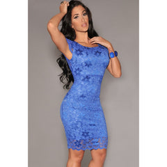 Enticing Lace Surface Backless Bodycon Dress With Lining Sale LAVELIQ - LAVELIQ - 1
