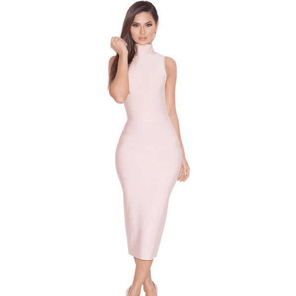 High Neck Bandage Dress LAVELIQ SALE - LAVELIQ - 1