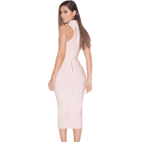 High Neck Bandage Dress LAVELIQ SALE - LAVELIQ - 2