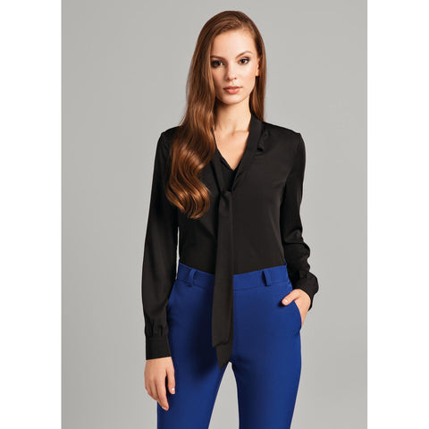 Black Chic Shirt For Women LAVELIQ