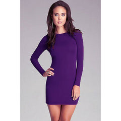 Sexy Purple Lace-Up Mini Dress Sale LAVELIQ - LAVELIQ - 1