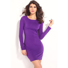 Sexy Purple Lace-Up Mini Dress Sale LAVELIQ - LAVELIQ - 3