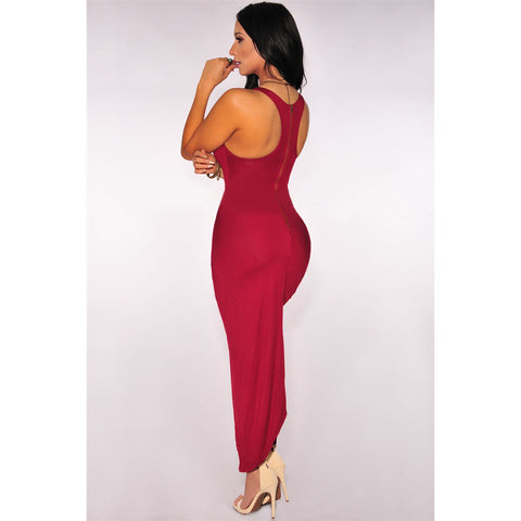 Clubwear Knotted Slit Dress LAVELIQ