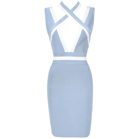 Deep V Bandage Dress LAVELIQ SALE - LAVELIQ - 3