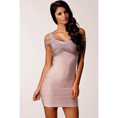 Dark Pink Weave Top Sexy Bandage Dress LAVELIQ  - LAVELIQ - 1