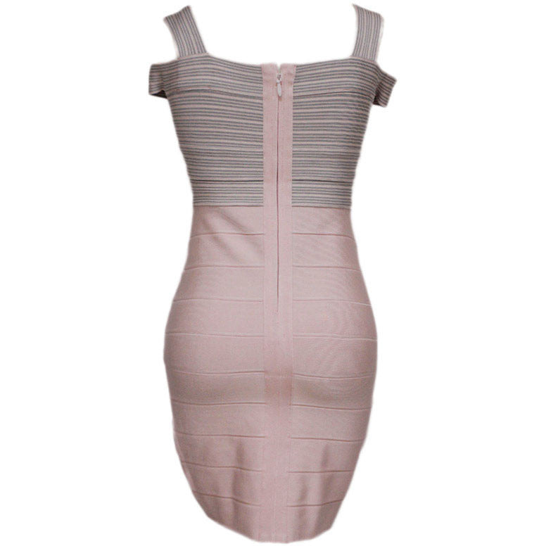Dark Pink Weave Top Sexy Bandage Dress LAVELIQ  - LAVELIQ - 3