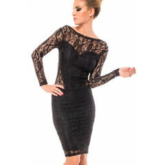 Black Chained Sexy Backless Midi Dress LAVELIQ - LAVELIQ - 2