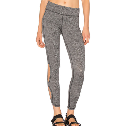 Grey Cutout Side Sports Leggings LAVELIQ