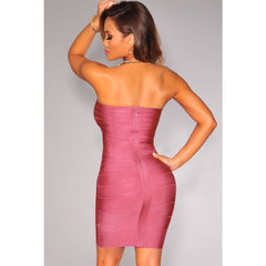 Elegant Bandage Dress In Dark Pink LAVELIQ  - LAVELIQ - 2