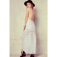 Stylish Neck Backless Maxi Dress LAVELIQ - LAVELIQ - 3
