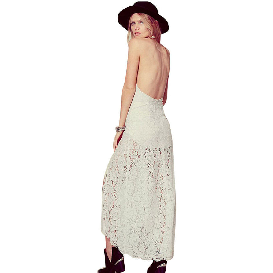 Stylish Neck Backless Maxi Dress LAVELIQ - LAVELIQ - 4