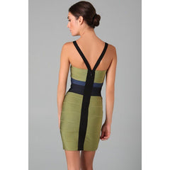 Green V Neck Bandage Dress LAVELIQ SALE - LAVELIQ - 2