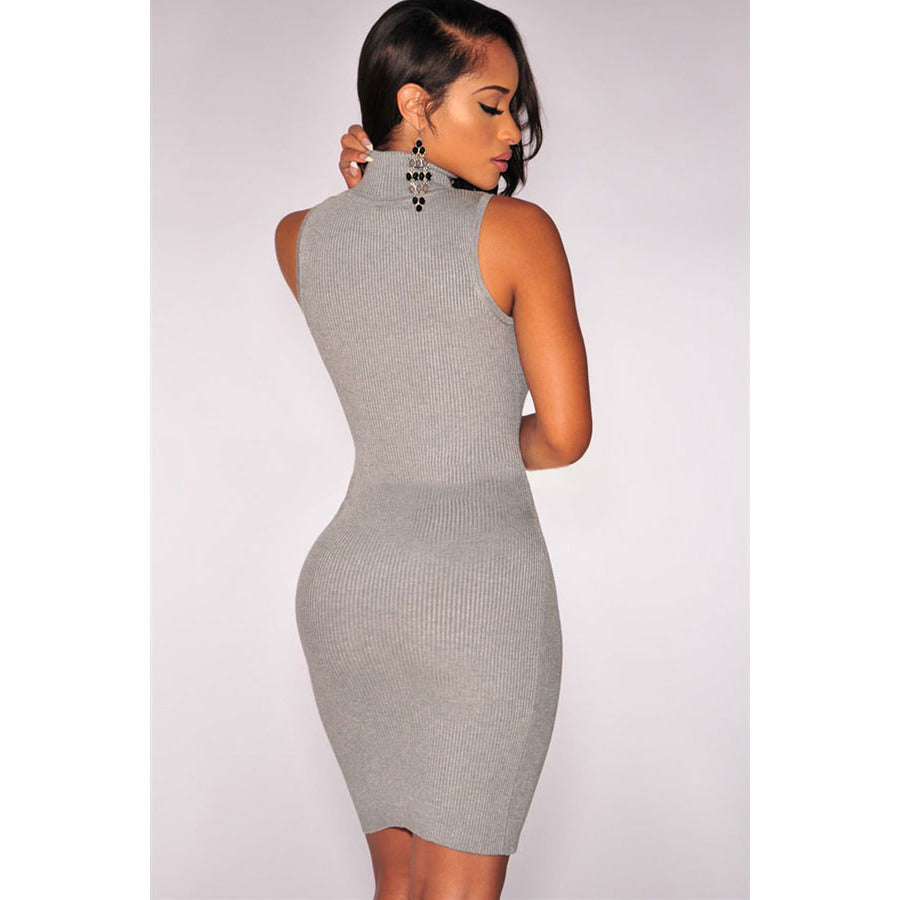 Grey Sleeveless Dress Sale LAVELIQ - LAVELIQ - 2