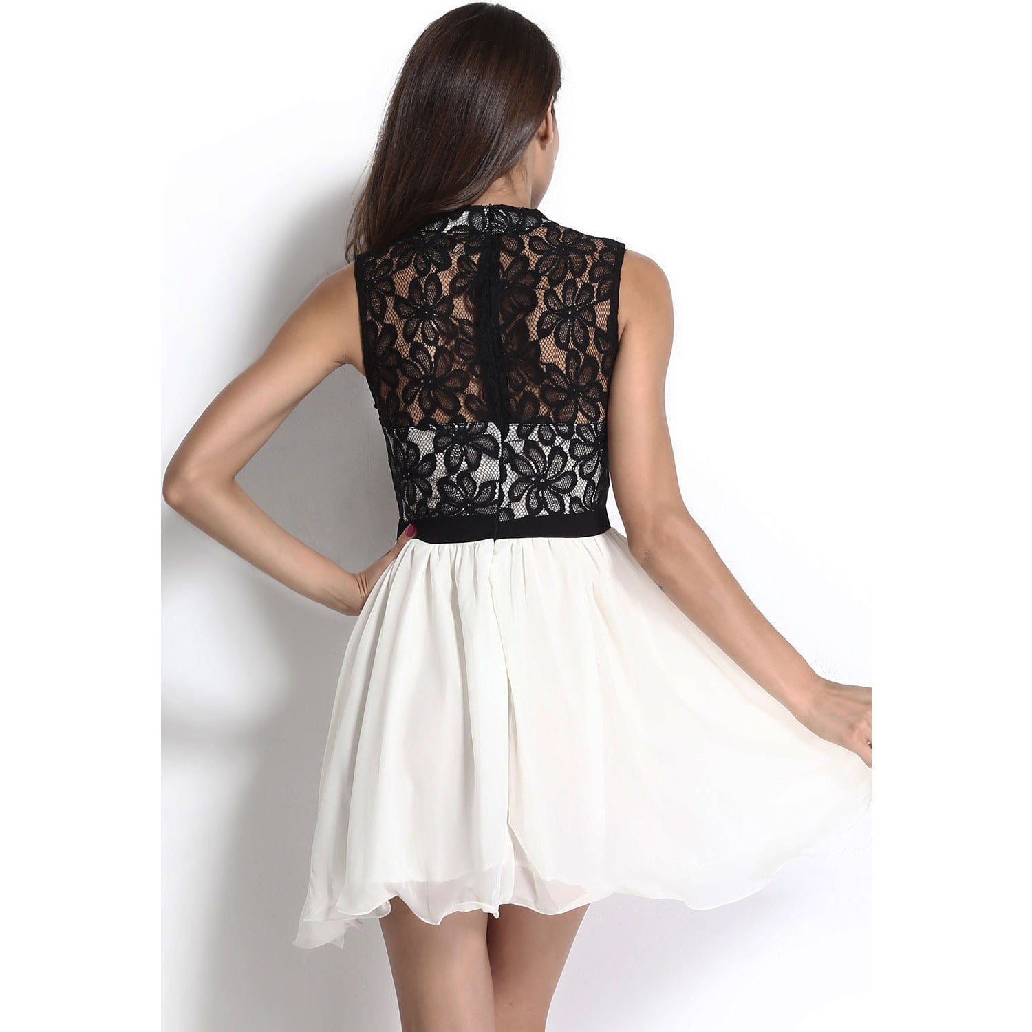 High Neck Lace Dress LAVELIQ - LAVELIQ - 3