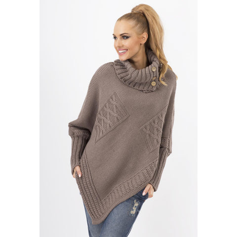 Cappuccino Loose Tourtleneck Sweater LAVELIQ