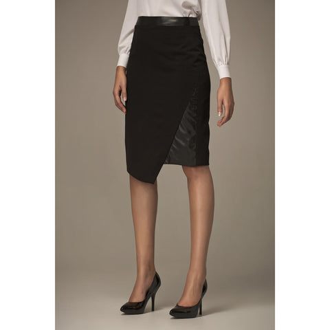 Black Graceful Asymetrical Front Skirt For Women LAVELIQ