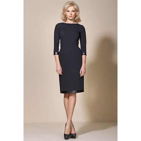 Black Chick Dress With Professional Look LAVELIQ