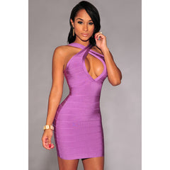 Cross Front Tight Bandage Dress LAVELIQ SALE - LAVELIQ - 1