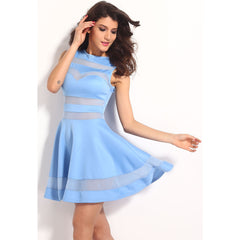 Light Blue Fitting Skater Dress Sale LAVELIQ - LAVELIQ - 3