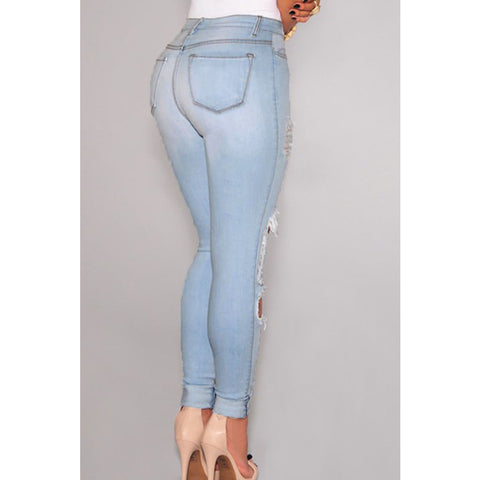 Light Blue Denim Jeans LAVELIQ