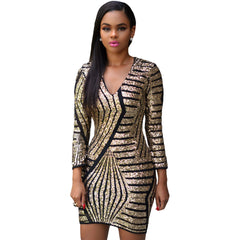 Long Sleeve Gold Dress Sale LAVELIQ - LAVELIQ - 1