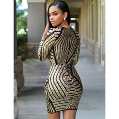 Long Sleeve Gold Dress Sale LAVELIQ - LAVELIQ - 3