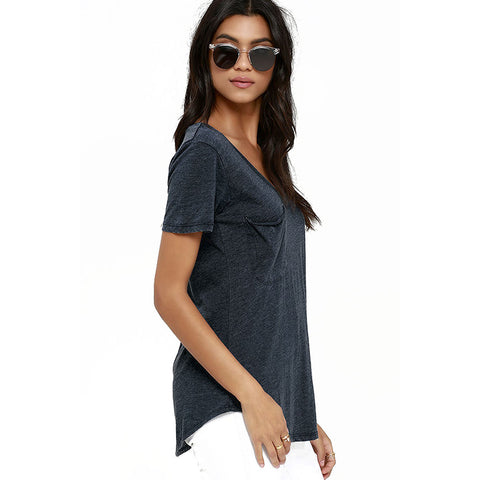 Stylish Basic Pocket T-Shirt LAVELIQ