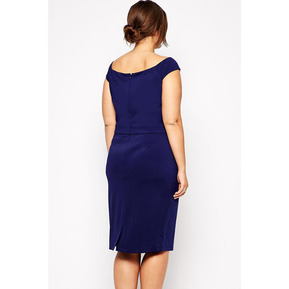 Navy Blue Plus Size Lace Dress Sale LAVELIQ - LAVELIQ - 2