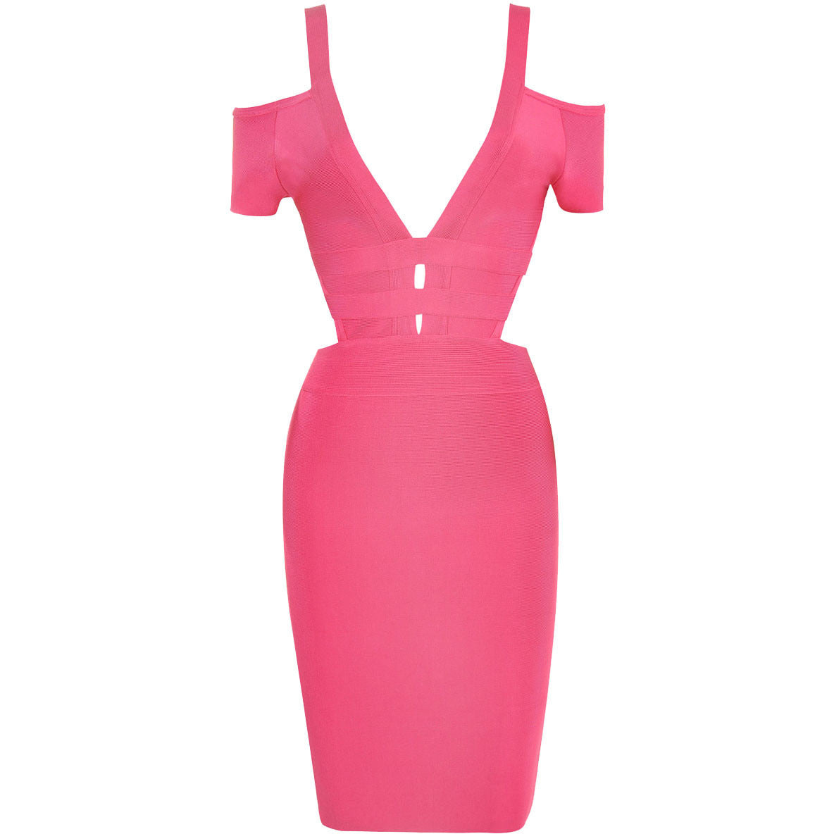 Off Shoulder Cut Out Bandage Dress LAVELIQ SALE - LAVELIQ - 5