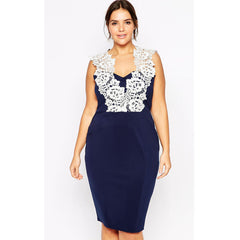 Plus Floral Lace Dress LAVELIQ - LAVELIQ - 1