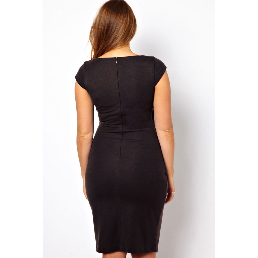 Plus Size Black Midi Dress Sale LAVELIQ - LAVELIQ - 2