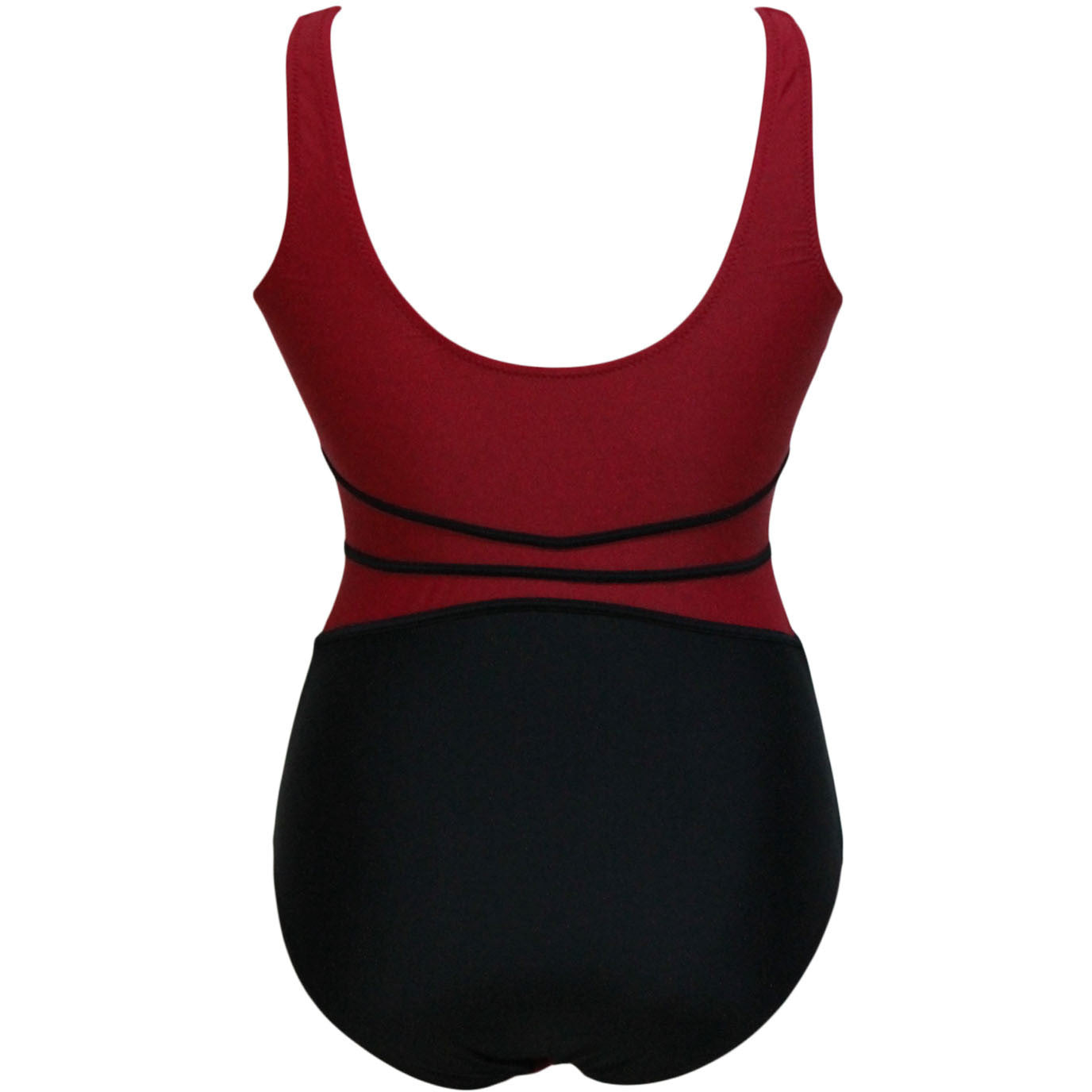 Red Black Mesh Cutout Swimwear LAVELIQ - LAVELIQ - 4