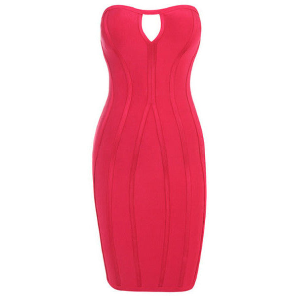 Cute Red Cutout Strapless Bandage Dress LAVELIQ SALE - LAVELIQ - 3