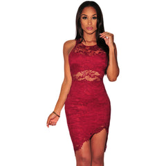 Red Lace Waist Dress LAVELIQ - LAVELIQ - 1