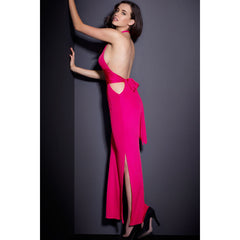 Rosy Sexy Neck Backless Jersey Maxi Dress LAVELIQ - LAVELIQ - 2