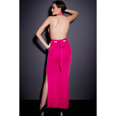Rosy Sexy Neck Backless Jersey Maxi Dress LAVELIQ - LAVELIQ - 3