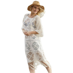 Sexy Bohemian Crochet Hollow-Out Beachwear Dress LAVELIQ - LAVELIQ - 1